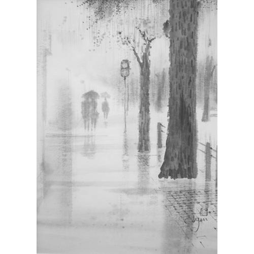 ストリート(雨)