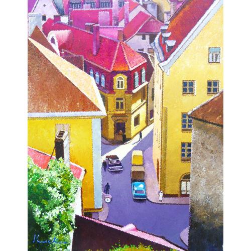 赤い屋根の街