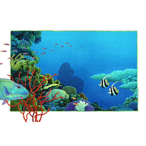 Reef life with Trumpet Fish