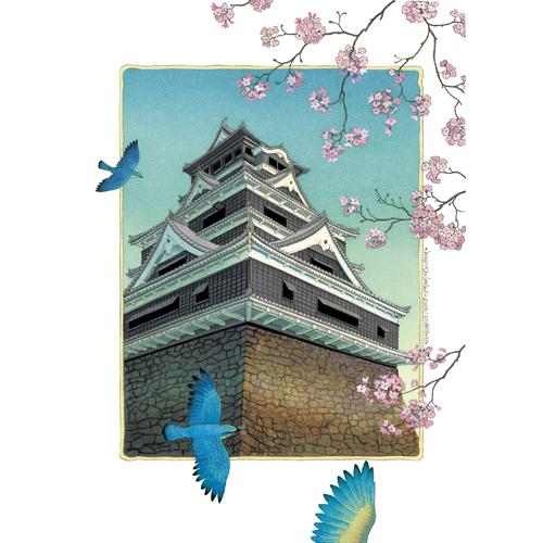 熊本城の四季(4点セット)